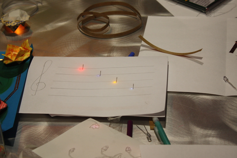 Musically inspired paper circuit